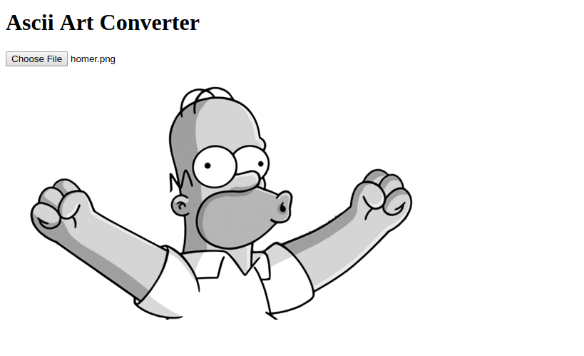 Grayscale Homer Preview