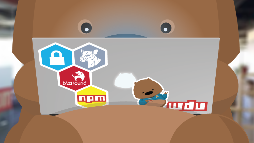 Npm Coding Wombat found on Npm Blog